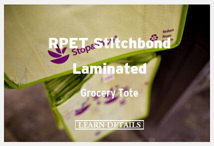 RPET Stitchbond Laminated Grocery Tote
