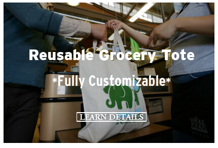 Reusable Grocery Tote Fully Customizable