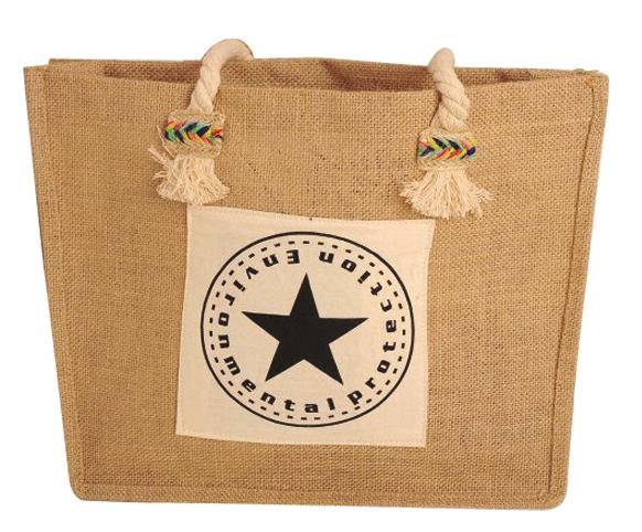 Eco material drawstring jute bag