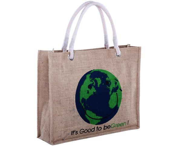 Shopping Jute Tote Bag