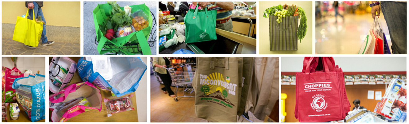 Kinds of shopping bags-banner